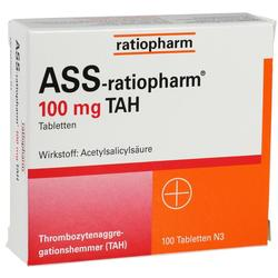 ASS RATIOPHARM 100MG TAH